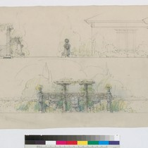 [Elevations of Columns and Archway]