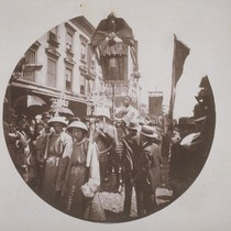Chinese celebration, Chinatown, Stockton St., 1896