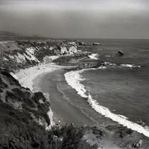 Corona Del Mar - View from bluffs overlooking Little Corona Beach. Present ...
