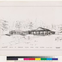 Dominican College Dining Room, preliminary sketch, San Rafael, 1957