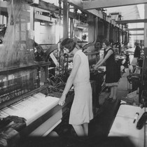 Thistle Towel Factory interior, Orange, California, 1929