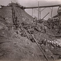 1004. Placer Mining--Columbia, Tuolumne County. Looking up the Incline from the Mine