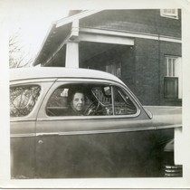 Anne Beatie Young in an automobile, 1942
