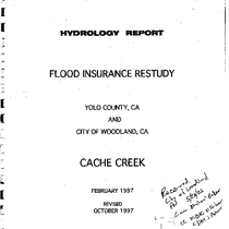 Appendix C, Hydrology Appendix for Lower Cache Creek Feasibility Study, Yolo County, ...