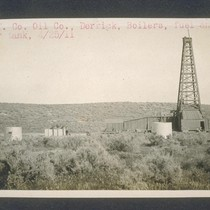 California Counties Oil Company derrick, boilers, fuel and water tank. April 25, ...