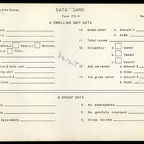 WPA Low income housing area survey data card 120, serial 17980, vacant