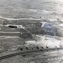 Aerial view of highway near Newport Beach, Orange County, California: Photograph