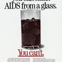 Some People Think You Can Catch AIDS from a Glass poster