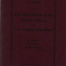 Report upon the distribution of the surplus waters of the Los Angeles ...