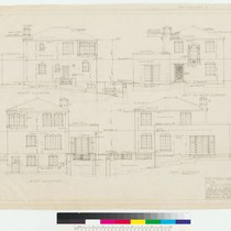 Conklin Residence, elevations, San Francisco, 1922