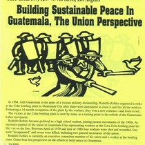 Building sustainable peace in Guatemala, the union perspective