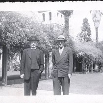 Ernest Watson and Unknown Man near the Mission Santa Clara