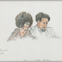 10/20/71 Angela Davis; Attorney Howard Moore, Jr