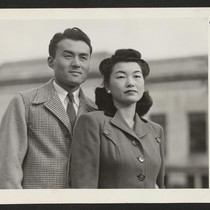 Mr. and Mrs. Fred Ikeguchi, whose wedding took place in Cleveland recently, ...