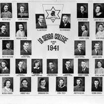 Photograph montage of the class of 1941 from La Sierra College, Riverside, ...