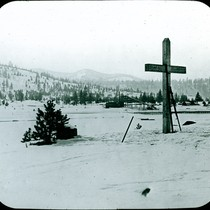 [Donner Party wood cross]