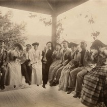 Visitors at the Blithedale Hotel, Mill Valley, circa 1898 [photograph]