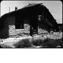 Adobe house with collapsed roof, Allensworth, California