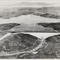 Artist's concept of Oroville Dam