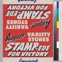 August Variety Stores Stampede For Victory: Invest your change in War Savings ...