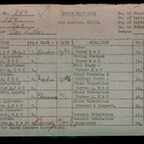 WPA block face card for household census (block 769) of 59th Place, ...