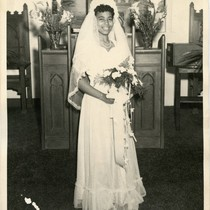 Bernice M. (Carr) Pitts on her wedding day