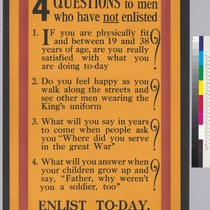 4 Questions to men who have NOT enlist: Enlist To-day