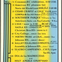 5 de Mayo Calendar, Announcement Poster for
