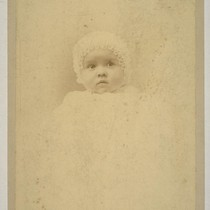 [Baby portrait of Louise Taber. Photograph by Isaiah West Taber.]