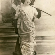 Female impersonator in vaudeville act at San Quentin State Prison, circa 1914 ...