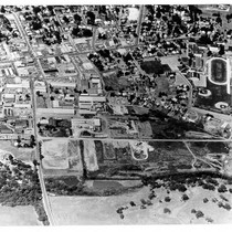 Aerial photograph of Sebastopol, California industrial park and cannery area, 1965