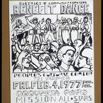 Benefit Dance, Announcement Poster for