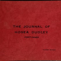 Journal of Hosea Dudley, Forty-niner (February 2nd, 1849 - August 21st, 1853)