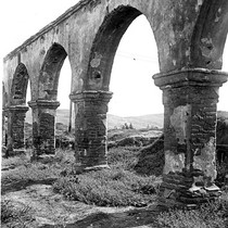 Arches at San Luis Rey Mission, Oceanside, California: Photograph