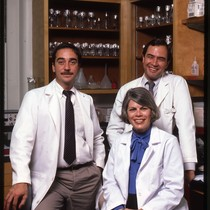 Donald Abrams, Constance Wofsy, and Paul Volberding in laboratory
