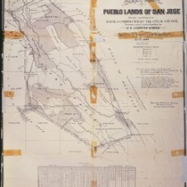 San Jose Pueblo Lands Map, 1866