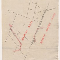 [Sketch of a rancho claim in the vicinity of Rancho Napa and ...
