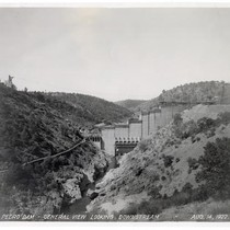 Don Pedro Dam, General View Looking Downstream August 14, 1922