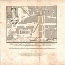 """Ground-Plan of Part of the City of Westminster as it appeared at ..."
