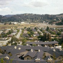 Looking north west from the top of Skylark Drive, Larkspur, 1976 [photograph]