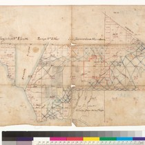 Manuscript map of lands around San Juan Capistrano