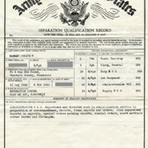 Army Separation Qualification Record Paperwork (Back Side) Filled Out by Gammey