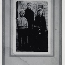 Childhood portrait of Willam Christensen, Lew Christensen, and Harold Christensen