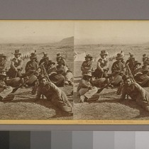 Warm Spring Indian Scouts in Camp. (2 variants)