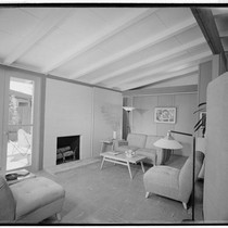 [Rancho Rinconada model houses: Moderne model]. Living room