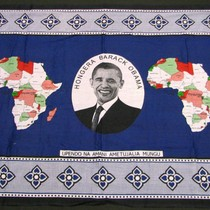 Dark Blue Hongera Barack Obama Cloth Textile