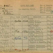 WPA block face card for household census (block 476) in Los Angeles ...