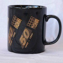 Black/gold Rohr 50th anniversary mug