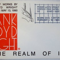 "Commemorative postmark for ""In the Realm of Ideas"" exhibit (1990) at the ..."