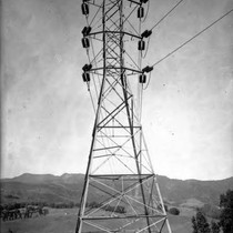 110 kv Transmission Line Tower from San Francisquito Canyon Power Plant No. ...